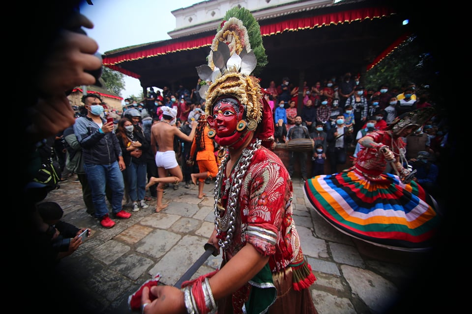 वसन्तपुर दरबार क्षेत्रमा देवी नाच सुरु